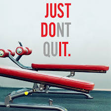 fitness gym wall sticker just do it just dont quit decoration