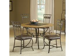 slate dining room table hillsdale lakeview 5 piece round dining set w slate chairs
