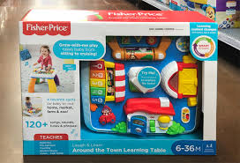 fisher price around the town learning table walmart fisher price laugh learn around the town learning table