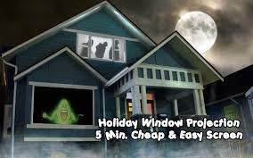 5 minute cheap and easy rear projection screen for window holiday