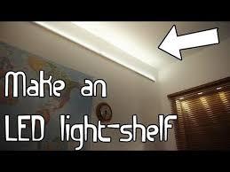 shelf with lights underneath build an led light shelf youtube