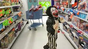 funny clown shopping at toys r us for nerf gun kids video youtube