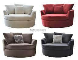 Upholstered Loveseat Chairs Modern Upholstered Microfiber Fabric Round Swivel Loveseat Chair