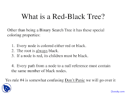analysis of black tree data structures lecture slides
