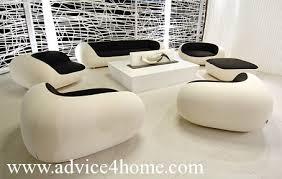 Whitebalck Sofa Set Design - Stylish sofa designs