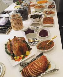 khloe posted images of thanksgiving dinner on