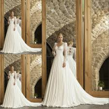 beautiful 2016 spring beach modest wedding dresses with long