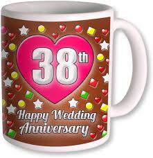 38th wedding anniversary heyworlds 38th wedding anniversary gift ceramic mug price in india