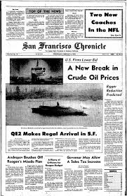 chronicle covers when the queen elizabeth 2 sailed into the bay