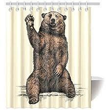 Animal Shower Curtains Interestprint Animal Home Decor Say Hello