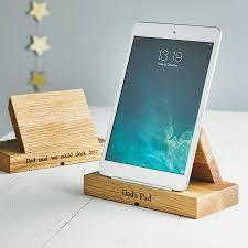 personalised oak tablet stand by mijmoj design