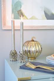 Accessorize Your End Table With Silver Vases And Votives by A Rustic Elegant Thanksgiving Zdesign At Home