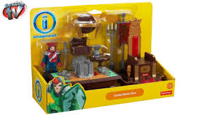 imaginext castle battle plan set toy review fisher price youtube