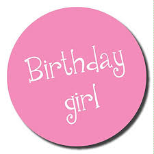birthday girl birthday girl stickers 60mm great for party organisers