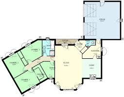 plan de maison 120m2 4 chambres plan maison plain pied 120m2 plein pied 120 m2 1 plan de maison