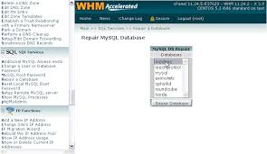 Mysql Repair All Tables by How To Repair A Mysql Database In Whm Kualo Limited