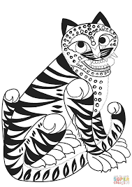 tiger tattoo coloring page free printable coloring pages