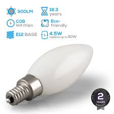 led dimmable frosted glass filament candelabra bulb 4 5w 60w