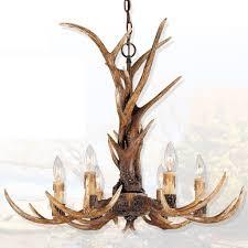 Antlers Lighting Chandelier Effortinc Vintage Style Resin Antler Chandelier 6 Lights Living