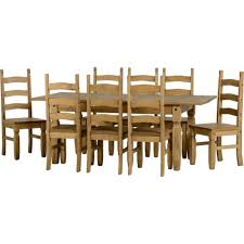 8 chair extending dining set