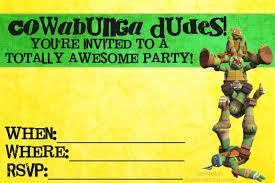 free printable ninja turtle birthday invitations wblqual
