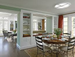 Half Wall Table Half Wall Dining Room Dining Room Traditional With Round Window