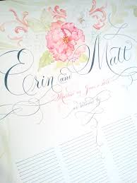 www edanae etsy wedding guest book scroll calligraphy