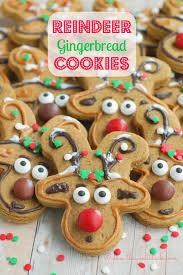 the sweet reindeer gingerbread cookies
