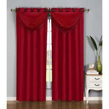 Burgundy Curtains With Valance Burgundy Window Scarves Valances Window Treatments The