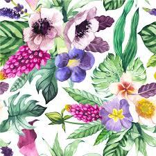 pattern illustration tumblr mona monash vector illustration with watercolor flowers