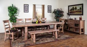 sandalwood trestle table dining room set by sunny designs