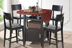 Drop Leaf Bistro Table Room Vault Modern Drop Leaf Pub Table Dining Set