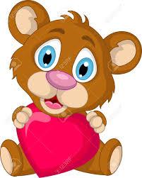 imagenes de amor con muñecos animados lindo marrón oso de dibujos animados con el amor del corazón