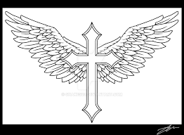 winged cross by snakes23 on deviantart