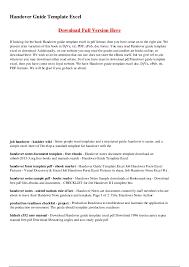 asset handover form handover report template job share handover