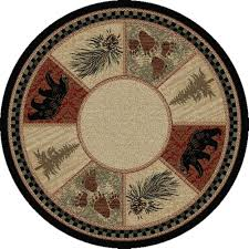 Round Throw Rugs by Pebble Creek Trout 8 U0027 Round Area Rug Cabin Place