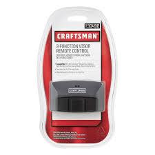 craftsman garage door opener app craftsman garage door opener 3 function visor remote control