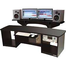 Corner Studio Desk Interior Design Editing Workstation Desk Desk With Rack