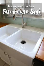 how to install farm sink in cabinet installing an ikea farmhouse sink ikea farmhouse sink