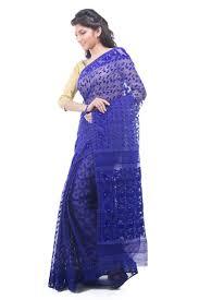 dhakai jamdani sarees exclusive royal blue dhakai jamdani muslin saree from bangladesh
