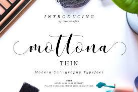 mottona thin script script fonts creative market