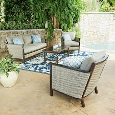 Newport Wicker Patio Furniture Member U0027s Mark Cole 4 Piece Seating Set Porch Patios And Sunroom