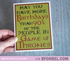 of thrones birthday card birthday card for the avid of thrones fan b for bel