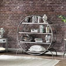 Industrial Metal Bookshelf Furniture Of America Diovani Industrial Metal Dark Grey Black