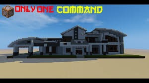 Modern Houses Minecraft Minecraft Modern House In 1 Command Youtube