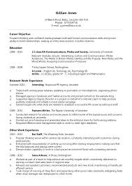 Resume For Spa Manager Cv Example Graduate Financial Advisor Cv Free Cv Examples
