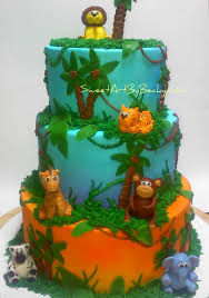 jungle baby shower cakes chattanooga cleveland dayton wedding birthday cakes