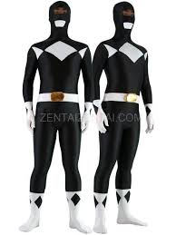 black with white lycra spandex unisex morph zentai suit