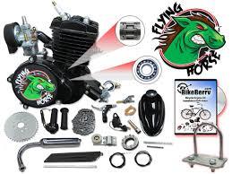 black angle fire flying horse 66cc 80cc bicycle engine kits epa