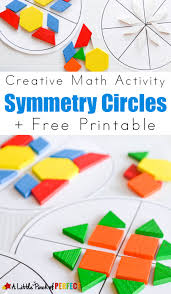symmetry circles math activity and free printable a creative way
